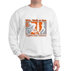 Leukemia RideWalkRun Sweatshirt