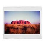 Uluru: Unique Moment Arctic Fleece Throw Blanket