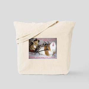 Yuletide Carols Sung by a Pig Tote Bag