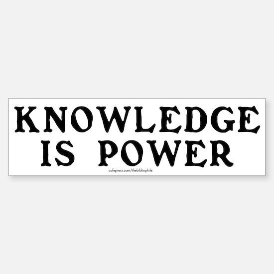 Knowledge Is Power Sticker (Bumper)