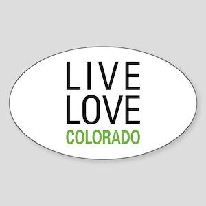 Live Love Colorado Sticker (Oval)