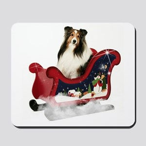 Magic Sleigh Sheltie Mousepad
