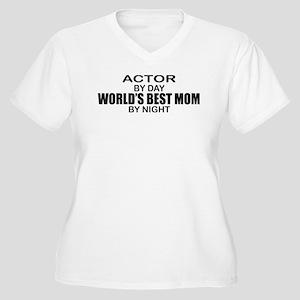 World's Best Mom - Actor Women's Plus Size V-Neck