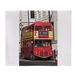 Vintage Red London Bus Arctic Fleece Throw Blanket