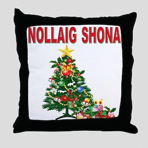 Irish Christmas Throw Pillow