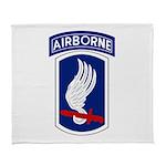 173rd Airborne BCT Arctic Fleece Throw Blanket