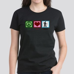 Peace Love Hiking Women's Dark T-Shirt