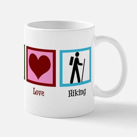Peace Love Hiking Mug