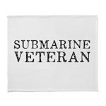 Submarine Veteran Arctic Fleece Throw Blanket