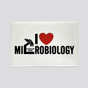 I Love Microbiology Rectangle Magnet