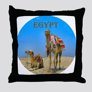 Camels & Pyramids - Throw Pillow