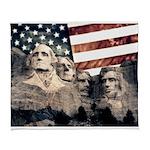 Patriotic Mount Rushmore Arctic Fleece Throw Blank