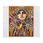 Mardi Gras Mask and Beautiful Woman Arctic Fleece