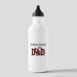 Australian Shepherd Dad Stainless Water Bottle 1.0