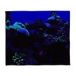 Dark Coral Arctic Fleece Throw Blanket