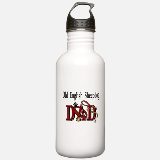 Old English Sheepdog Dad Water Bottle