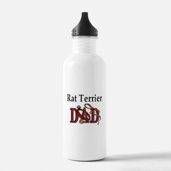 Rat Terrier Dad Water Bottle