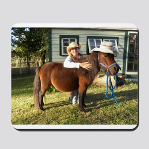 4-H Straw hat Cowgirl Mousepad