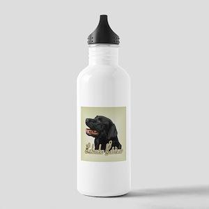 Black Labrador Retriever Stainless Water Bottle 1.