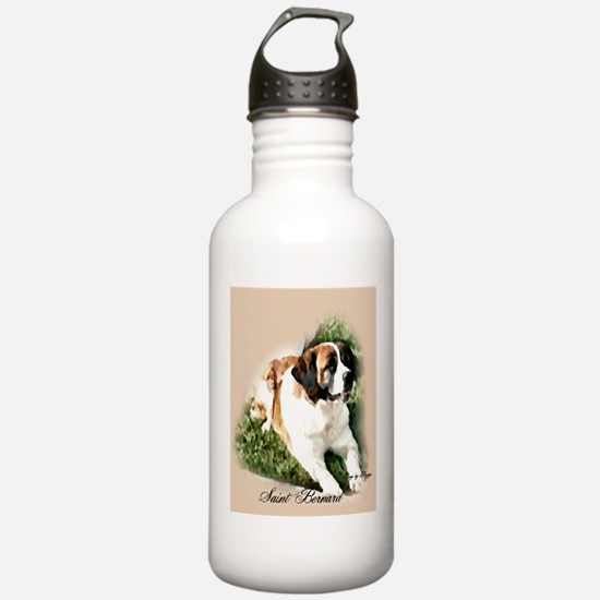 Saint Bernard Art Water Bottle