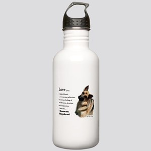 German Shepherd Love Is Stainless Water Bottle 1.0