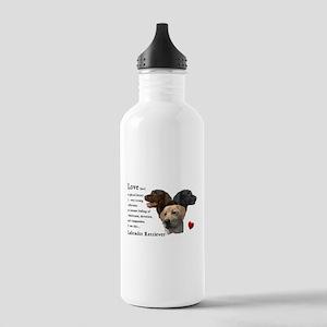 Labrador Retriever Love Stainless Water Bottle 1.0