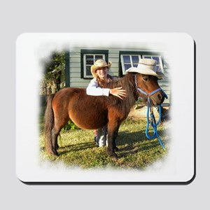 4-H Straw hat Cowgirl (fuzzy edged) Mousepad