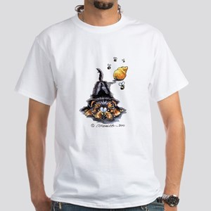 Bee Yorkie Lover White T-Shirt