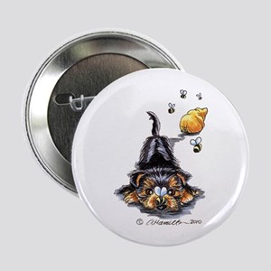 "Bee Yorkie Lover 2.25"" Button"
