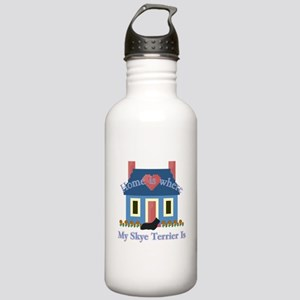 Skye Terrier Home Is Stainless Water Bottle 1.0L