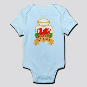 rugby wales shield Infant Bodysuit