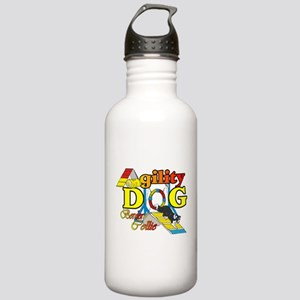 Border Collie Agility Stainless Water Bottle 1.0L