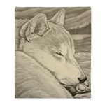 Shiba Inu Dog Art Mouspad Gifts Arctic Fleece Thro