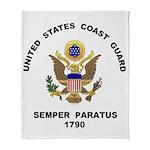 Semper Paratus trans dark Arctic Fleece Throw Blan