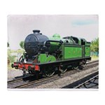 Vintage Steam engine,Railway train green and black