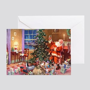 SANTA CLAUS ON CHRISTMAS EVE Greeting Card