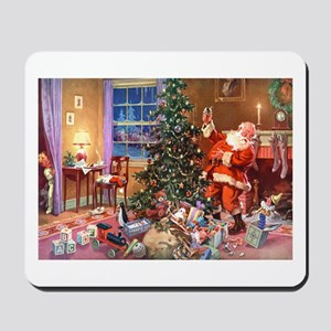 SANTA CLAUS ON CHRISTMAS EVE Mousepad