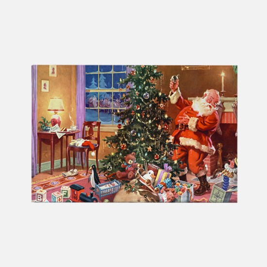 SANTA CLAUS ON CHRISTMAS EVE Rectangle Magnet
