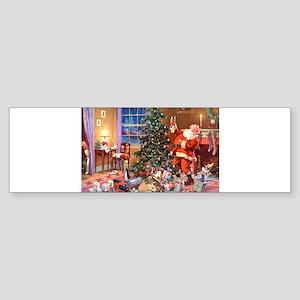 SANTA CLAUS ON CHRISTMAS EVE Sticker (Bumper)