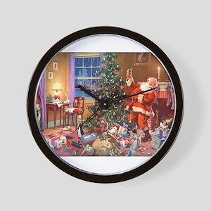 SANTA CLAUS ON CHRISTMAS EVE Wall Clock