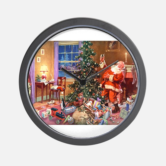 SANTA CLAUS ON CHRISTMAS EVE Wall Clock