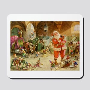 Santa and His Reindeer Mousepad