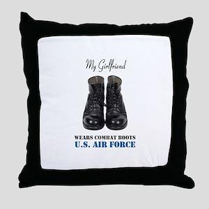 My Girlfriend Throw Pillow