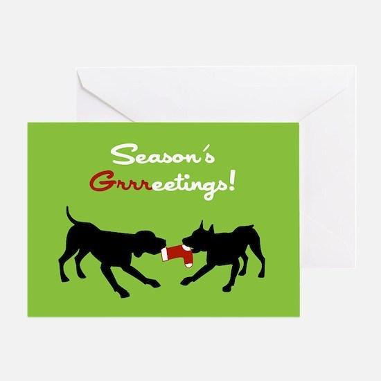 RD Season's Grrreetings Greeting Card