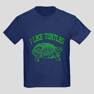 I Like Turtles - Kids Dark T-Shirt