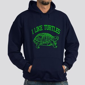 I Like Turtles - Hoodie (dark)