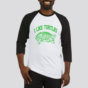 I Like Turtles - Baseball Jersey