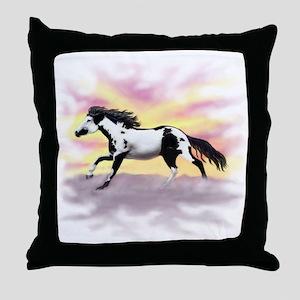 Galloping Ziggy Throw Pillow