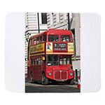 Vintage Red London Bus Sherpa Fleece Throw Blanket