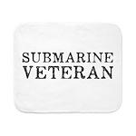 Submarine Veteran Sherpa Fleece Throw Blanket